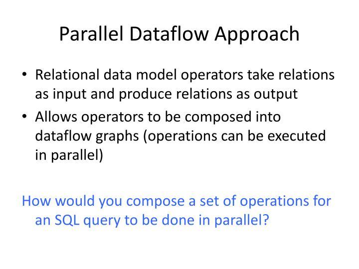 Parallel Dataflow Approach