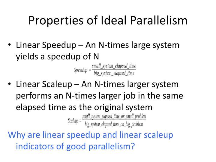 Properties of Ideal Parallelism