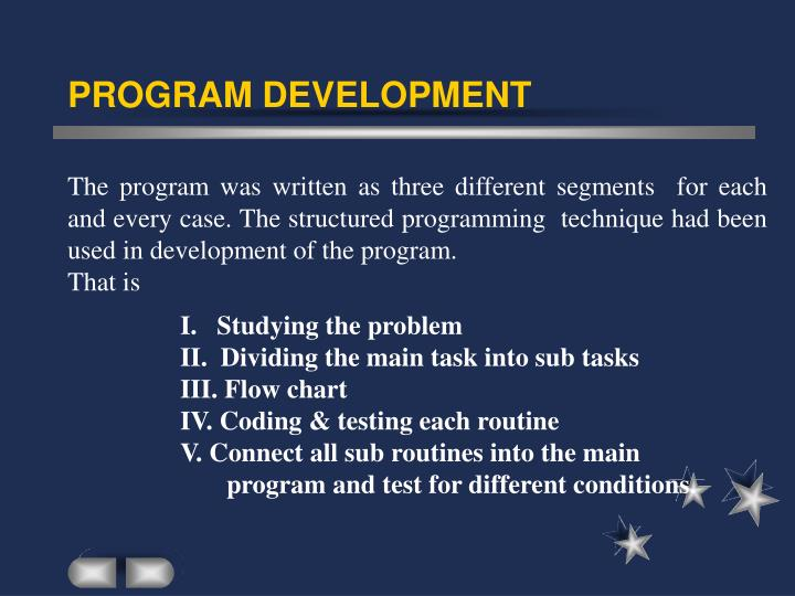 PROGRAM DEVELOPMENT