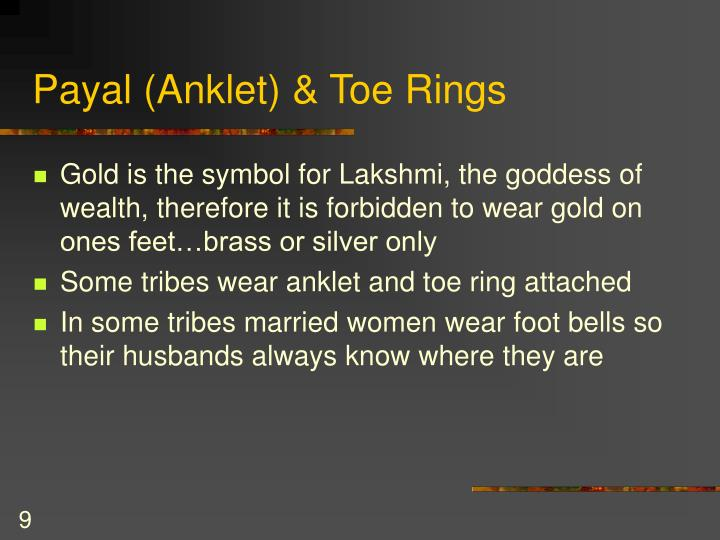 Payal (Anklet) & Toe Rings