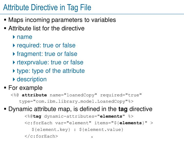 Attribute Directive in Tag File