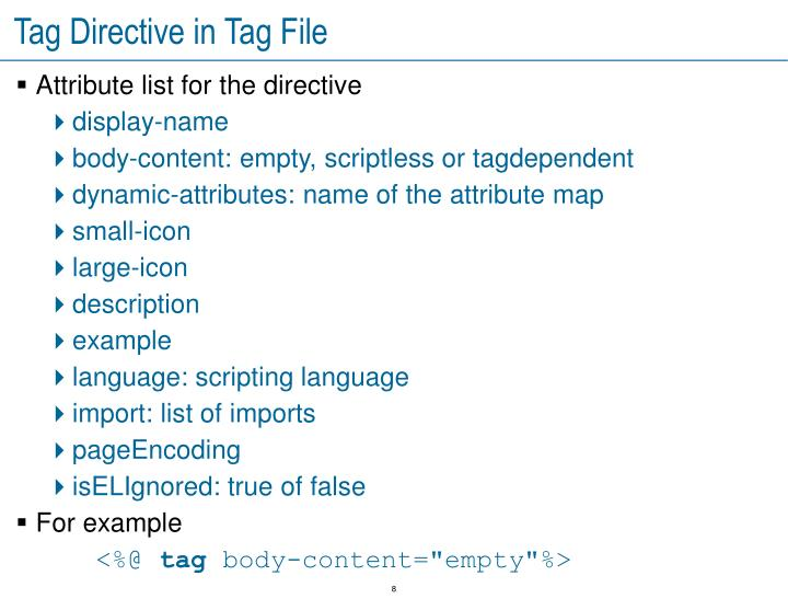 Tag Directive in Tag File