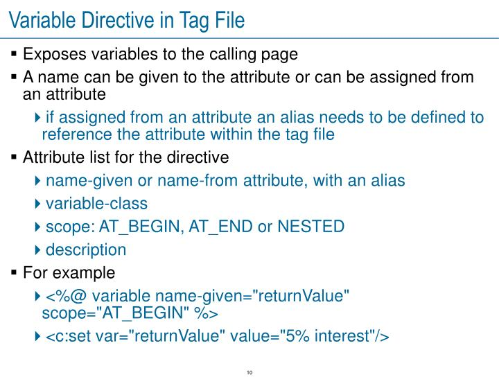 Variable Directive in Tag File