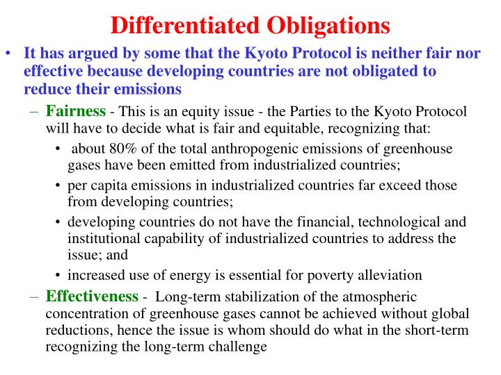 Differentiated Obligations
