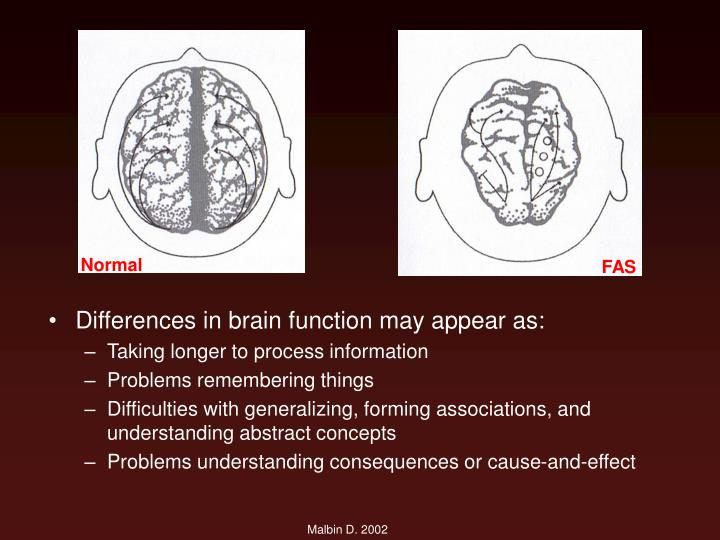 Differences in brain function may appear as: