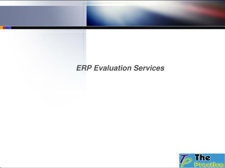 ERP Evaluation Services