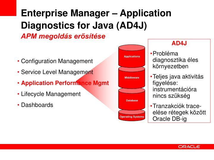 Enterprise Manager – Application Diagnostics for Java (AD4J)