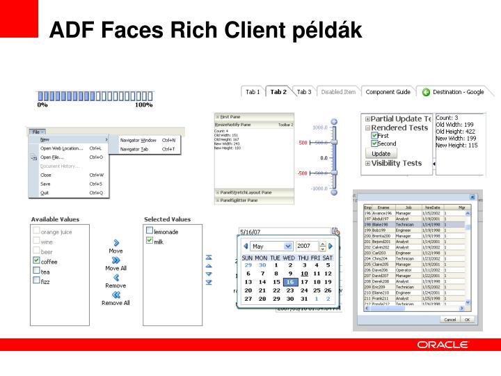 ADF Faces Rich Client példák