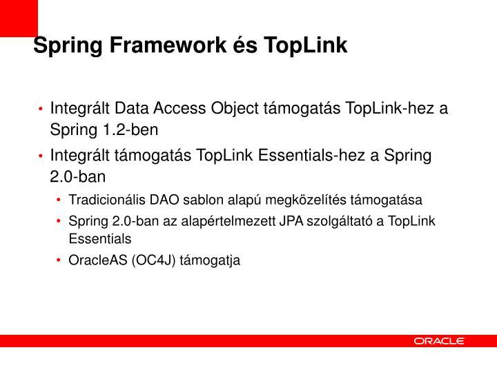 Spring Framework és TopLink