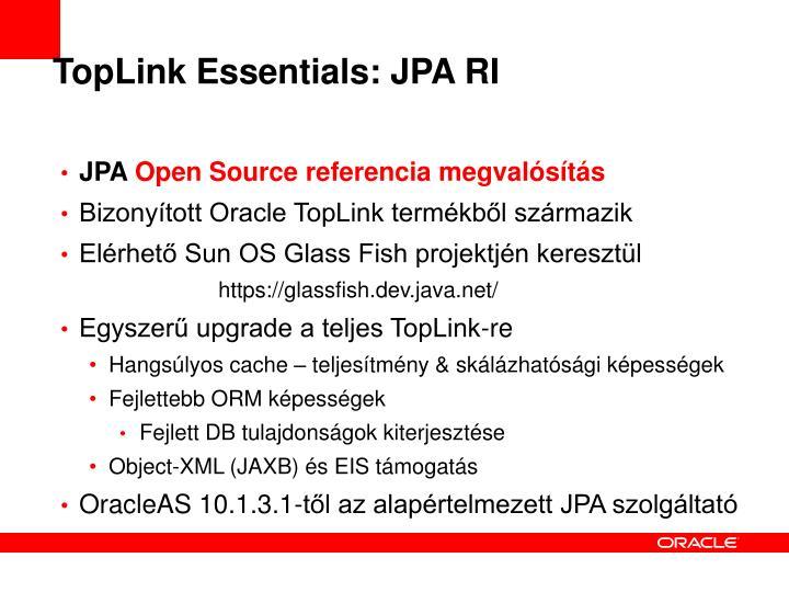 TopLink Essentials: JPA RI