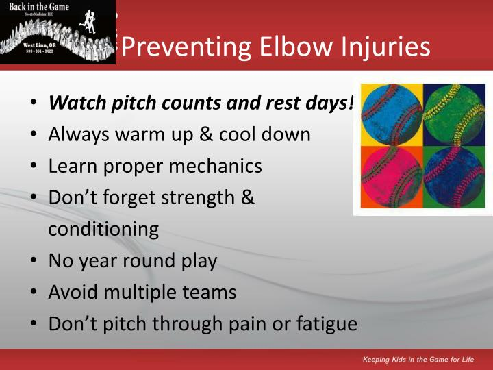 Preventing Elbow Injuries