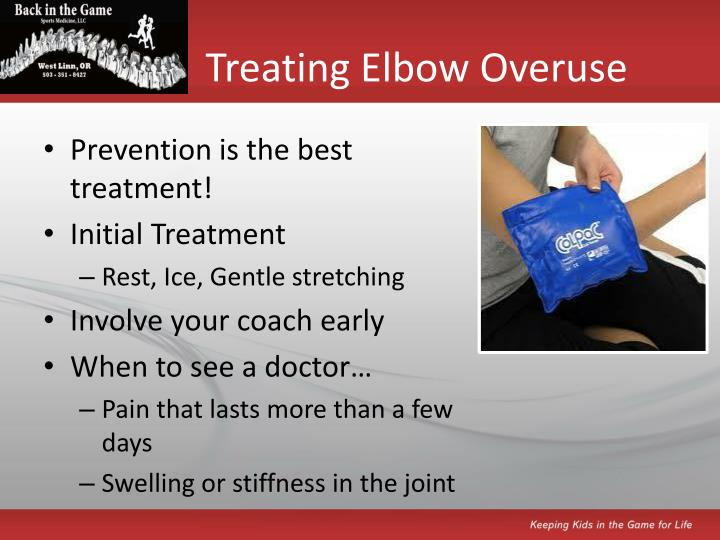 Treating Elbow Overuse