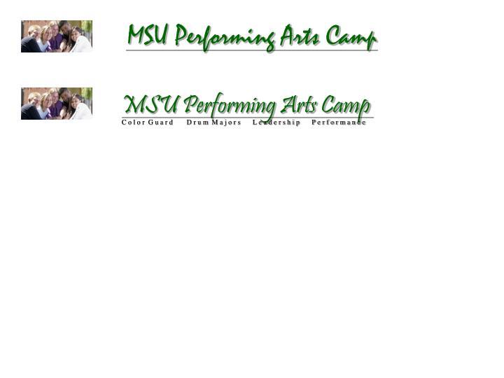 MSU Performing Arts Camp