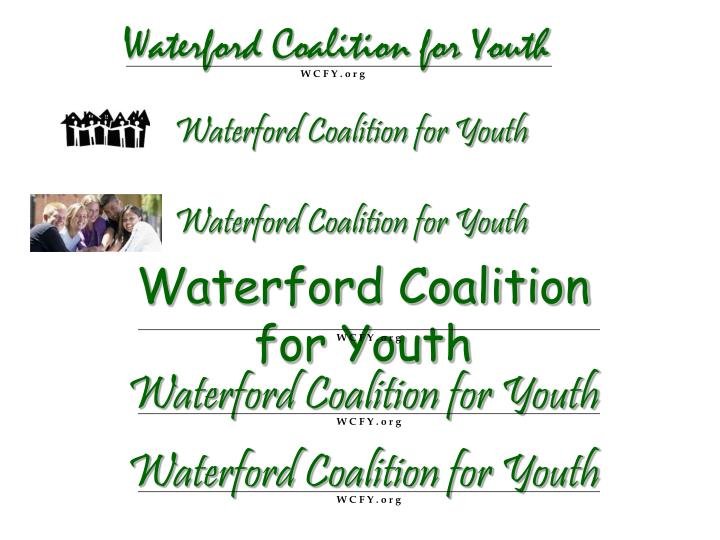 Waterford coalition for youth