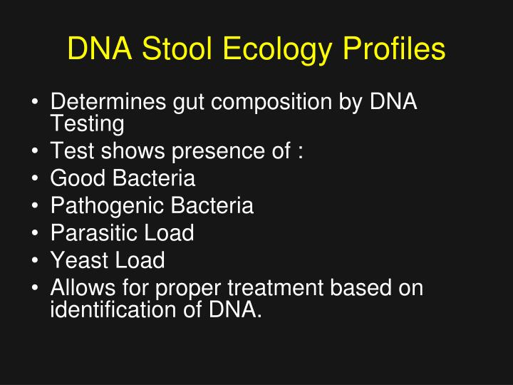 DNA Stool Ecology Profiles