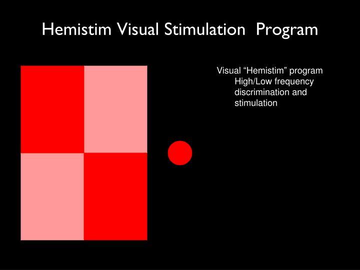 Hemistim Visual Stimulation  Program