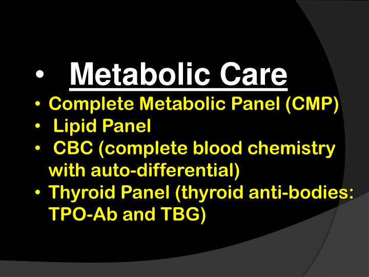 Metabolic Care
