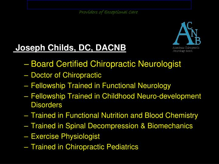 Corrective Chiropractic Neurology and Functional Nutrition Center