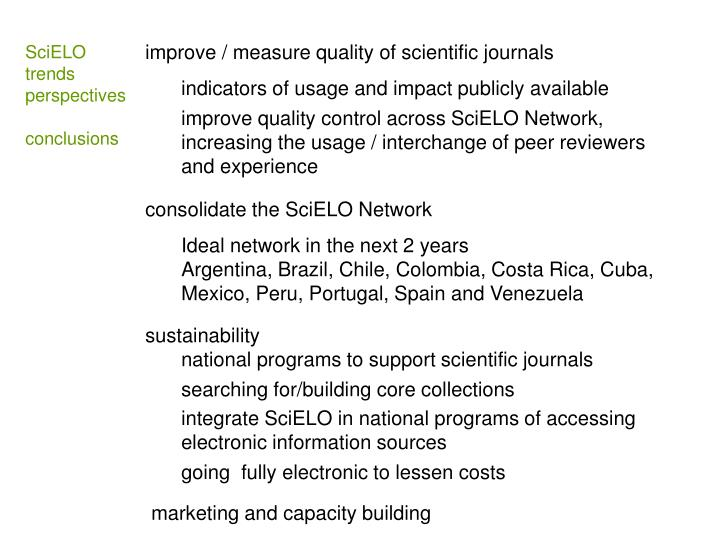 improve / measure quality of scientific journals