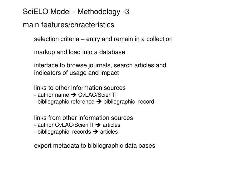 SciELO Model - Methodology -3
