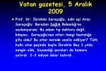 vatan gazetesi 5 aral k 2009