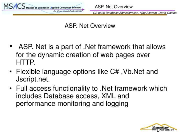 ASP. Net Overview