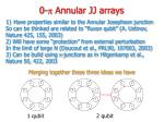 0 p annular jj arrays