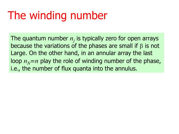 The winding number
