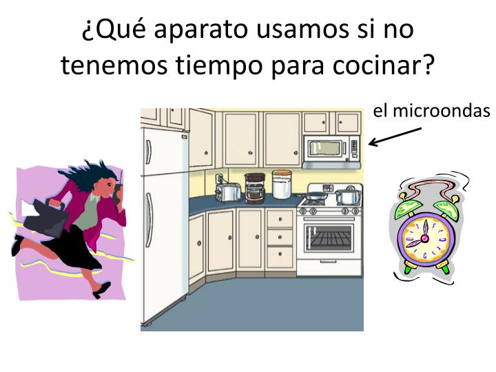 ¿Qué aparato usamos si no tenemos tiempo para cocinar?