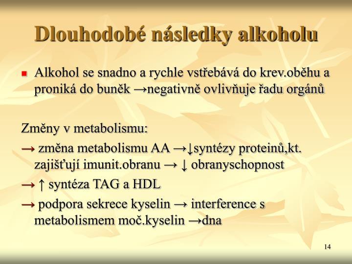 Dlouhodob nsledky alkoholu