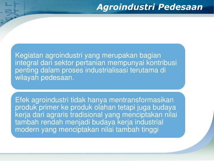 Agroindustri Pedesaan