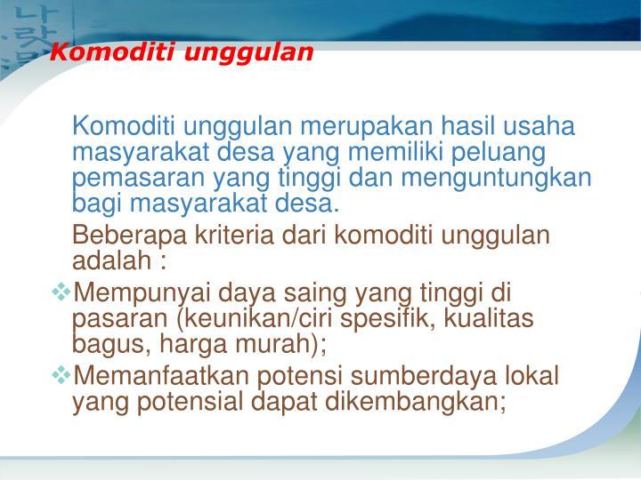 Komoditi