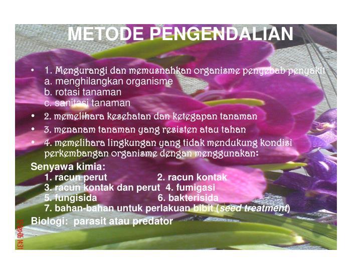 METODE PENGENDALIAN