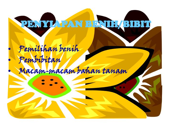 PENYIAPAN BENIH/BIBIT