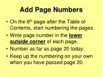 add page numbers