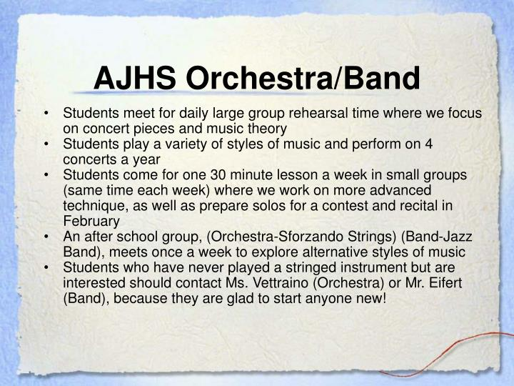 AJHS Orchestra/Band