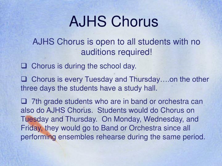 AJHS Chorus
