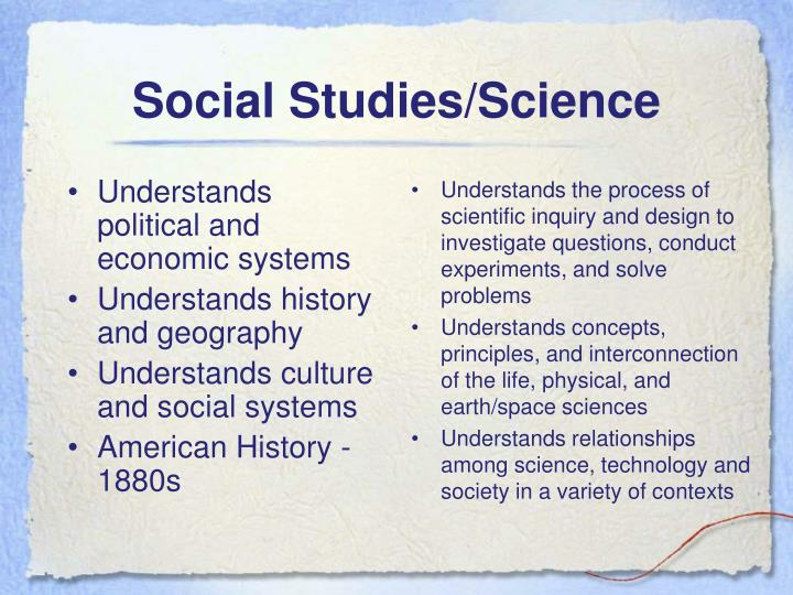 Understands political and economic systems