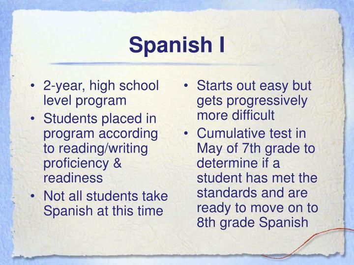 2-year, high school level program