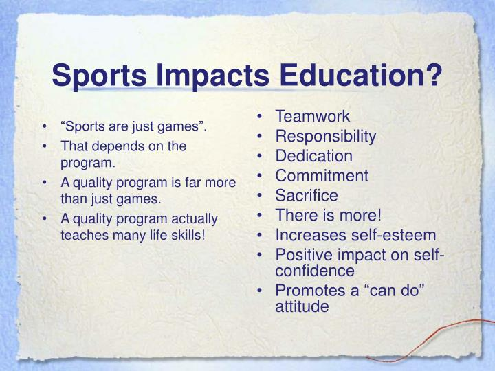 """""""Sports are just games""""."""