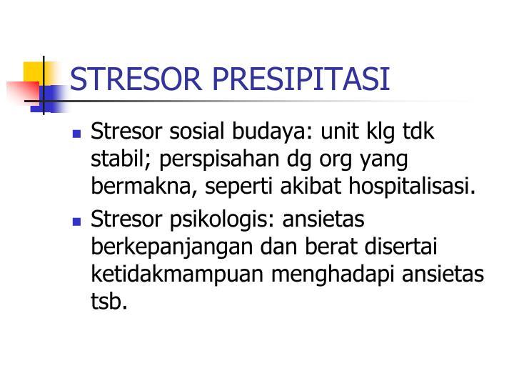 STRESOR PRESIPITASI