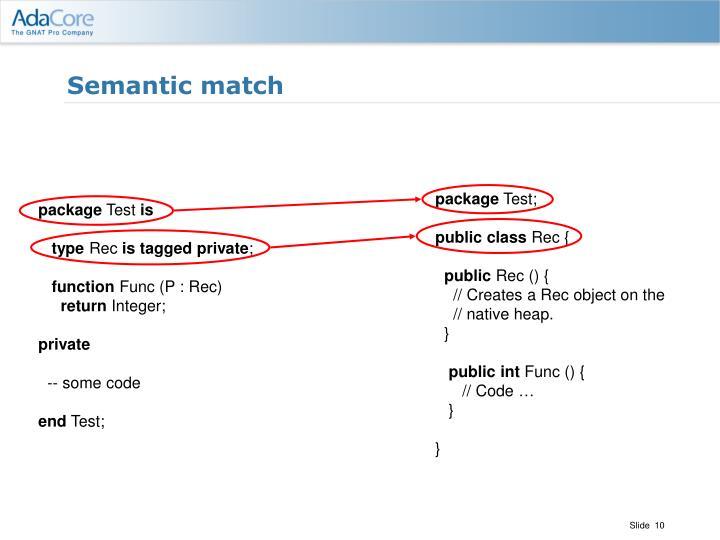 Semantic match