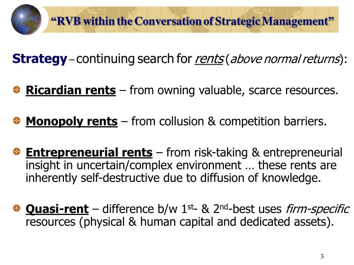 Rvb within the conversation of strategic management1