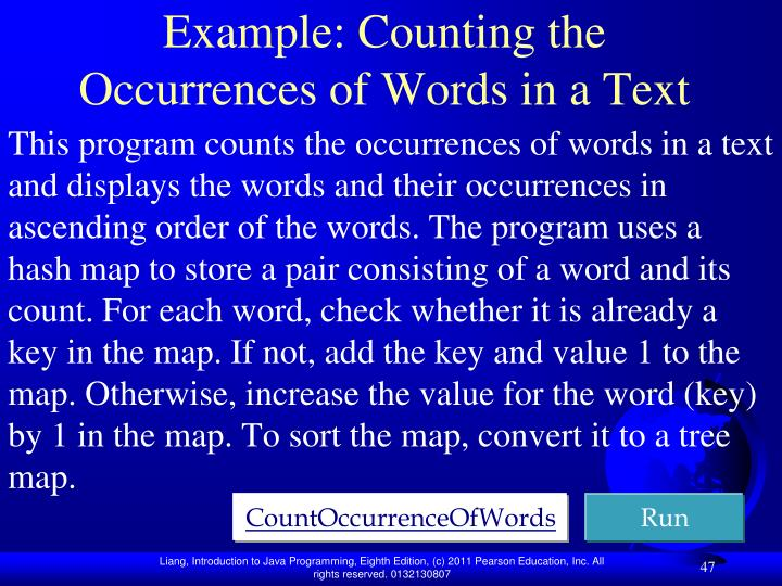 Example: Counting the Occurrences of Words in a Text