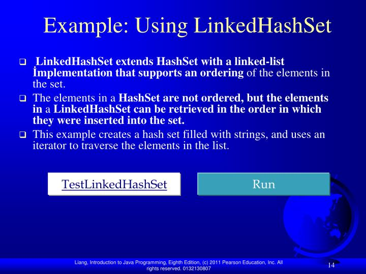 Example: Using LinkedHashSet