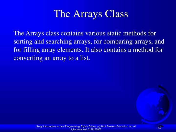 The Arrays Class