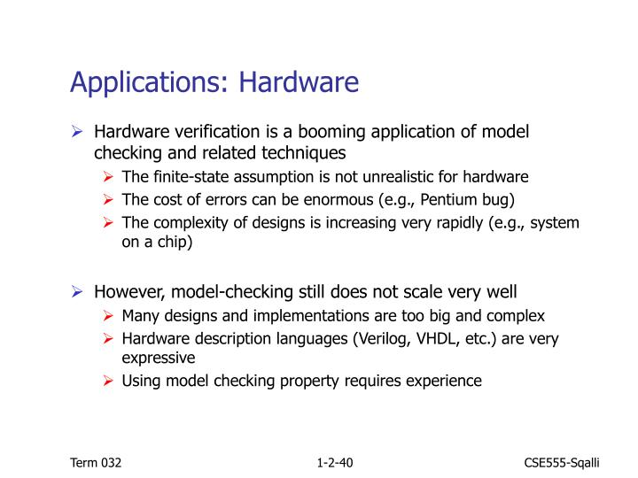 Applications: Hardware
