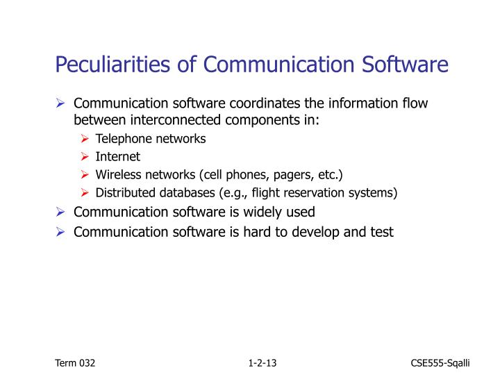 Peculiarities of Communication Software