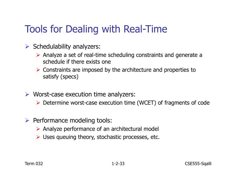 Tools for Dealing with Real-Time