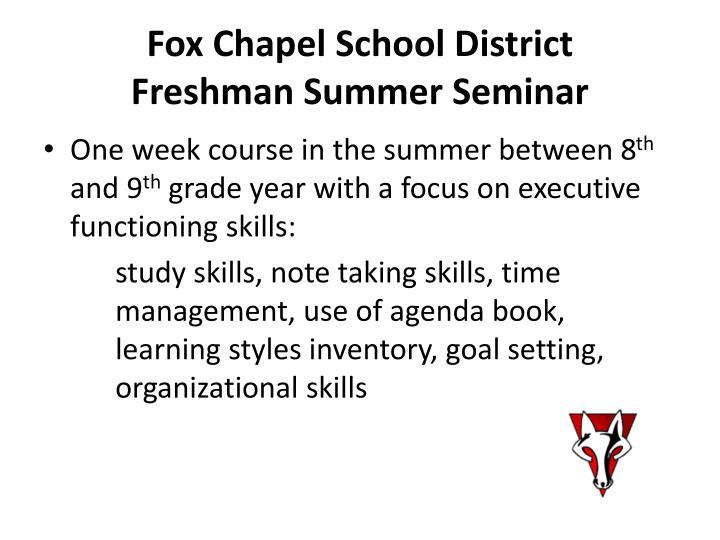 Fox Chapel School District
